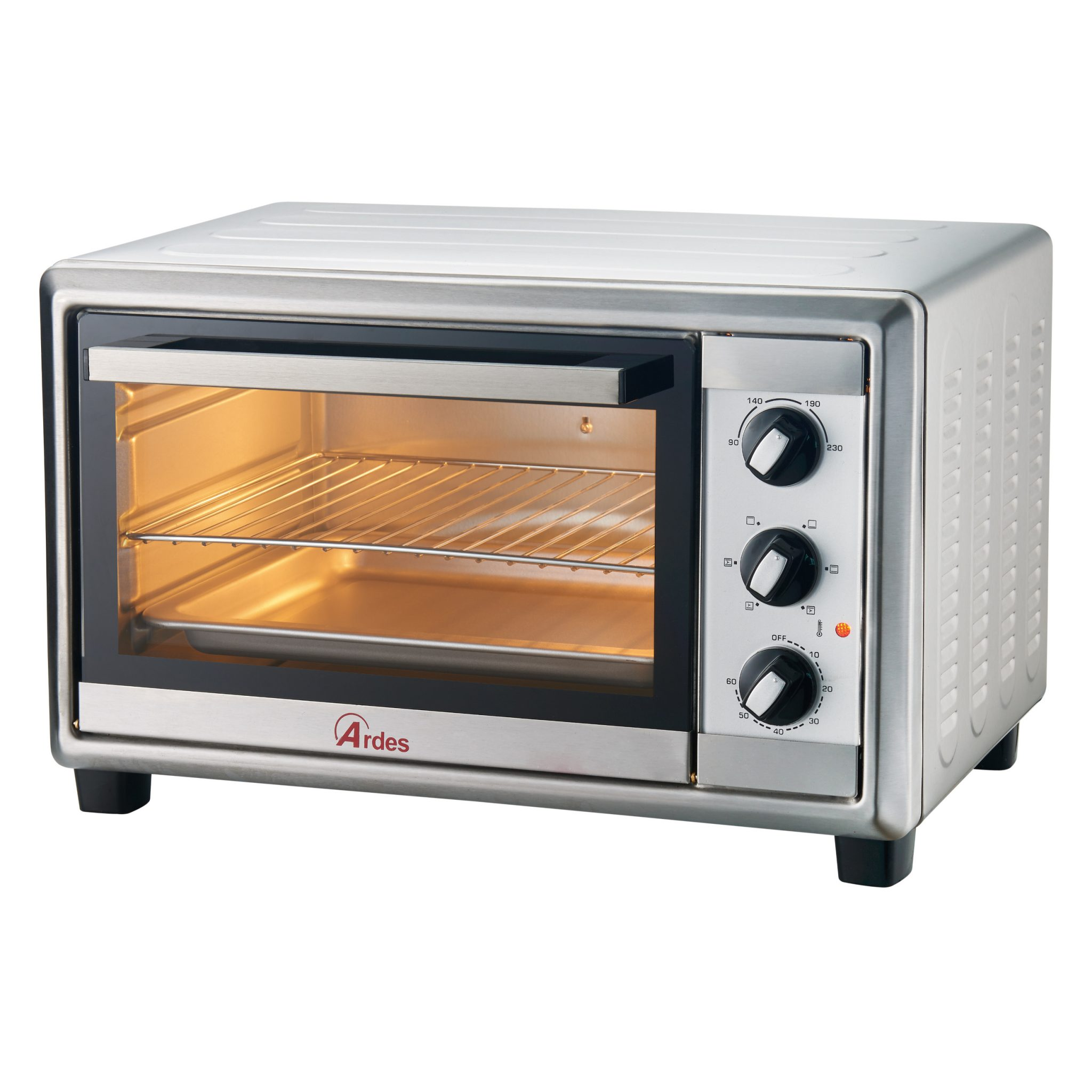 Ar6228x forno elettrico gustavo 28 l inox ardes - Forno elettrico combinato ...
